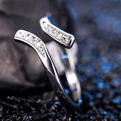 925 Silver Plated Rings Toe Finger Band Adjustable Ring Women's Foot Jewelry NT