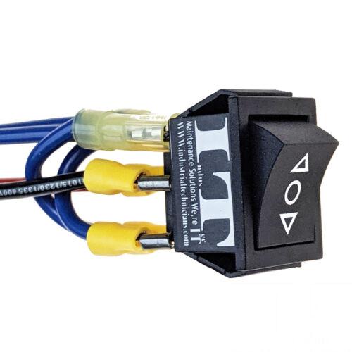 IndusTec 20 AMP Motor - Polarity Reversing Maintained Rocker Switch Control 12V