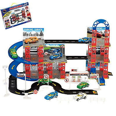 Multi Storey City Car Park Auto Parking Garage Die Cast Cars Play Set Toy Xmas