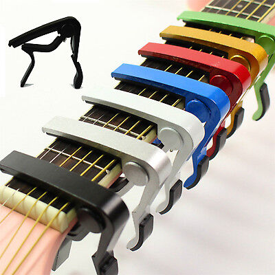 Change Tune Clamp Key Trigger Capo Acoustic Electric Guitar Accessories POP