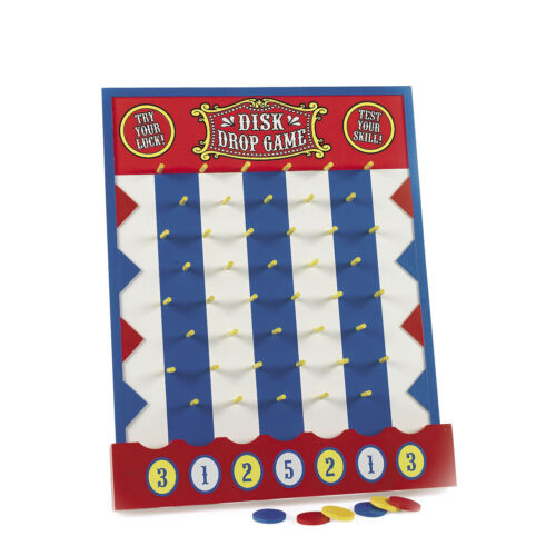 PLINKO STYLE GAME circus big top DISK DROP CARNIVAL GAME Wood birthday party