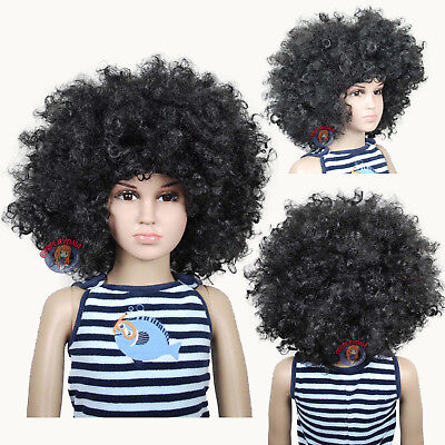 Jumbo Unisex Black Afro Children Halloween Wigs (fits from toddlers to - Childrens Wigs Halloween