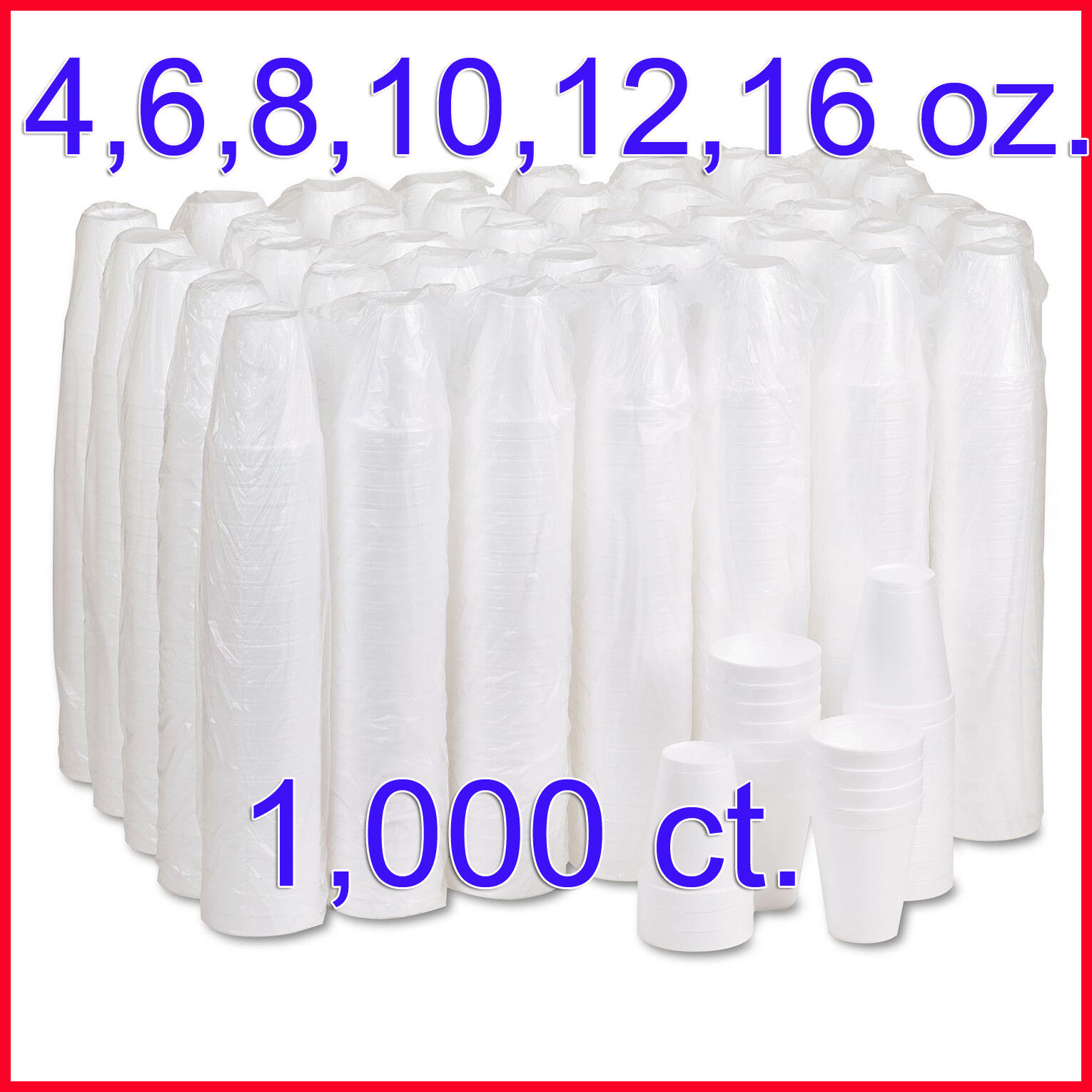 Dart Hot and Cold Foam Cups, 1,000 ct. oz