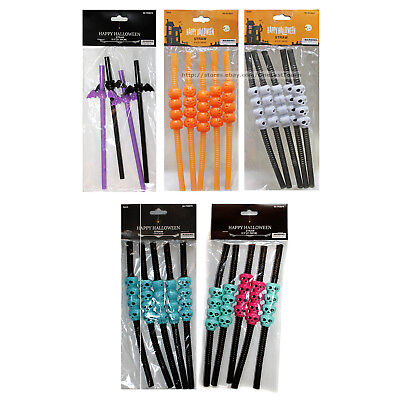 MOMENTUM BRANDS* Party Favors DRINK STRAWS Bag Fillers HALLOWEEN *YOU CHOOSE* 1b](Halloween Party Bag Fillers)