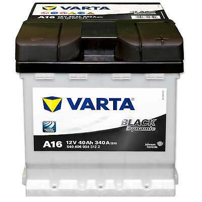 Autobatterie 12V 40Ah 340A Varta A16 Black Dynamic Starterbatterie FIAT
