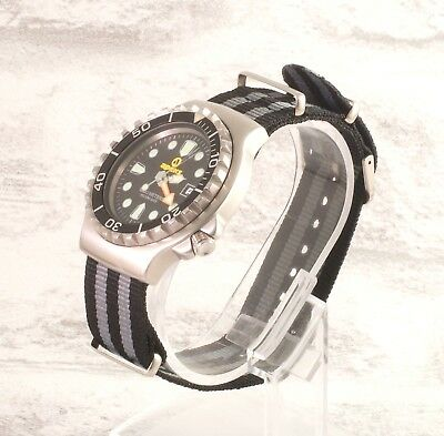 New James Bond 007 black grey nylon NATO military watch strap Spectre
