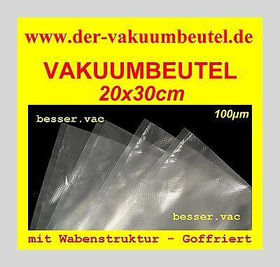 200 St. Vakuumbeutel Goffriert 20x30 cm Beutel Wabenstruktur z.B für Lava, Caso.