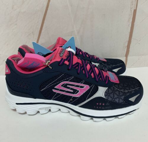 Skechers Golf Shoes Go Walk Lynx Navy/Hot Pink Women's Siz