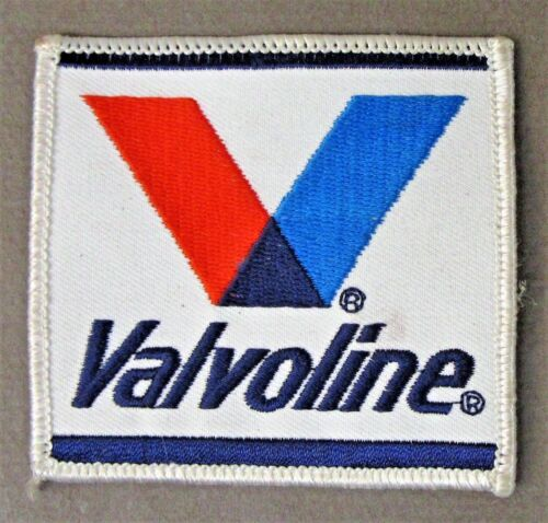 VALVOLINE White Border shirt jacket patch Hydroplane boat and car racing c3