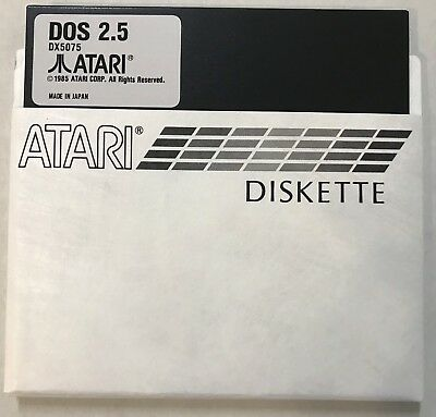 Atari DOS 2.5 Single Density SD Master 5 1/4 disks 2 each for 800,XL, XE