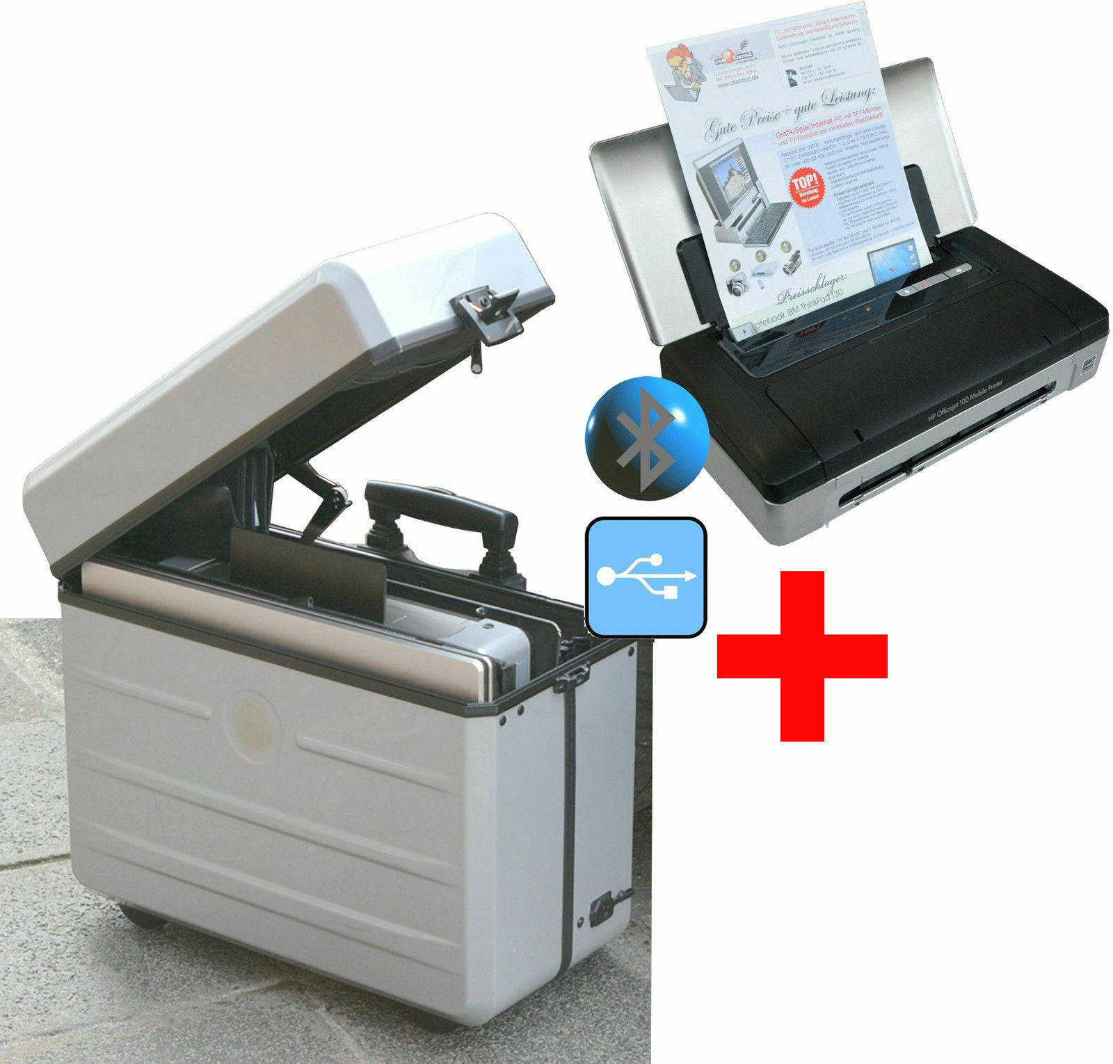 Imprimante mobile hp officejet 100 plus parat kofferlösung pour notebook 17