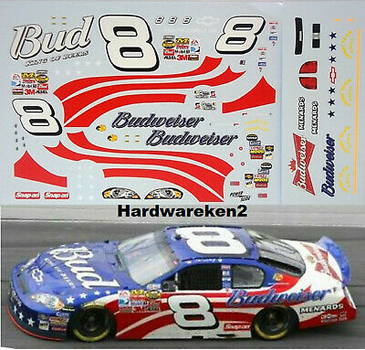 NASCAR DECAL # 8 BUDWEISER PATRIOTIC 2007 MONTE CARLO DALE EARNHARDT Jr.- 1/24