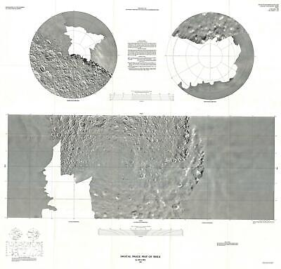 1988 U.S. Geological Survey Image Map of Rhea, Moon of Saturn