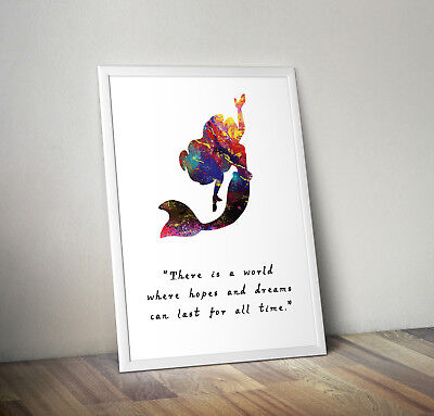 Disney inspired Little Mermaid poster print wall art gift decor merchandise