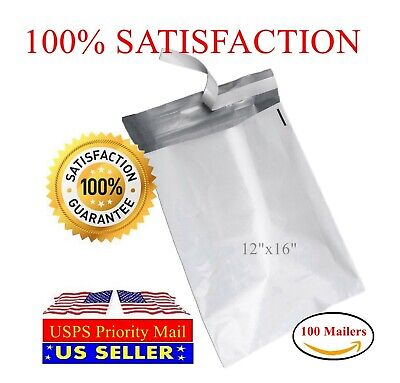 100 12x16 Poly Mailers Shipping Self Sealing Plastic Envelope Bag-st Shipmailers