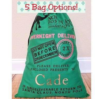 Personalized Santa Sack Bag Christmas Kids Toy Name Bag Gift Kids Holiday Gift