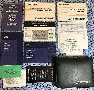 Toyota Land Cruiser Owners Manual (2006 Toyota Land Cruiser Owners Manual w Navigation Guide OEM Set 4.7L V8 4x4 A+)