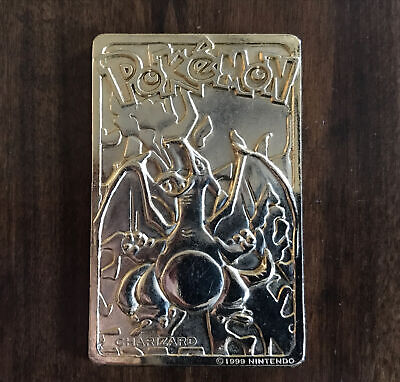 Pokemon Limited Edition 1999 Charizard 23K Gold Plated Trading Card