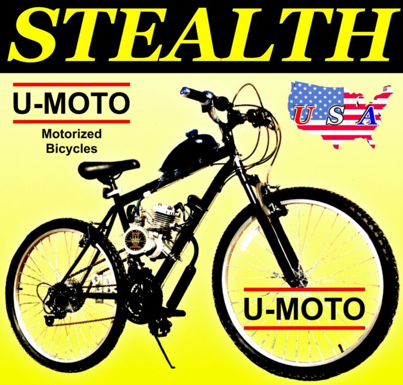 NEW DIY 2-STROKE 66cc/80cc MOTORIZED BICYCLE KIT WITH MOUNTAIN BIKE