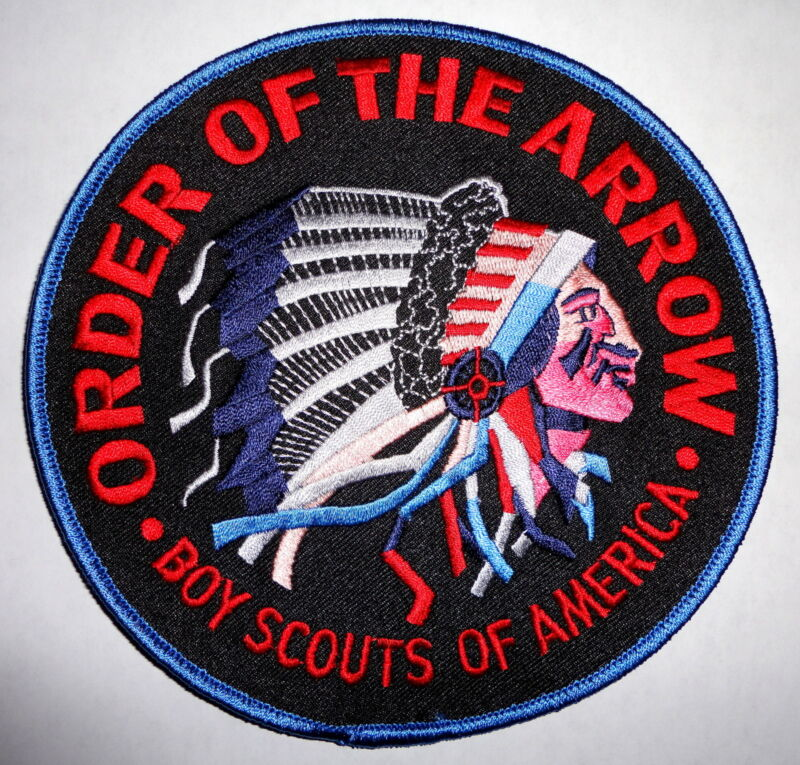 """Order of the Arrow Blue/Black 6"""" OA Jacket Patch - Boy Scouts of America"""