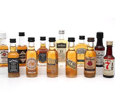 Großes American WHISKY TASTING SET - Probierset 12 Miniaturen Jack Daniels u.a.