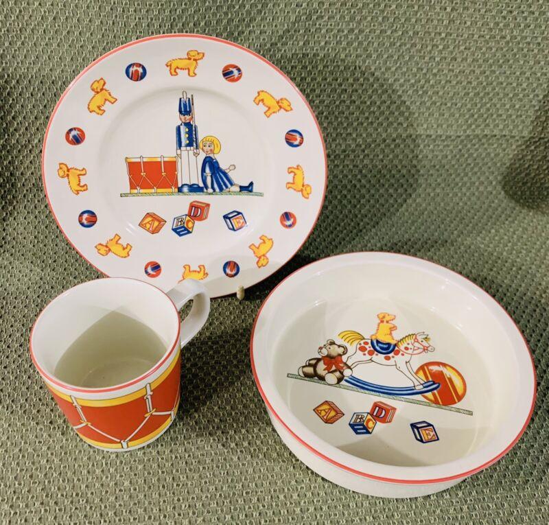 TIFFANY CO Toys Dish Set Child Bowl Plate Mug Baby 3 Pieces 1992