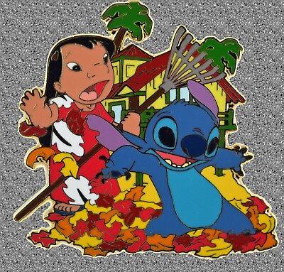 Lilo & Stitch in Leaves  Pin - DISNEY AUCTIONS Pin LE - Lilo Leaf