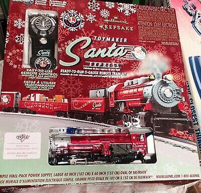 HALLMARK TOYMAKER SANTA EXPRESS LIONEL Christmas 2015 TRAIN SET - new open box