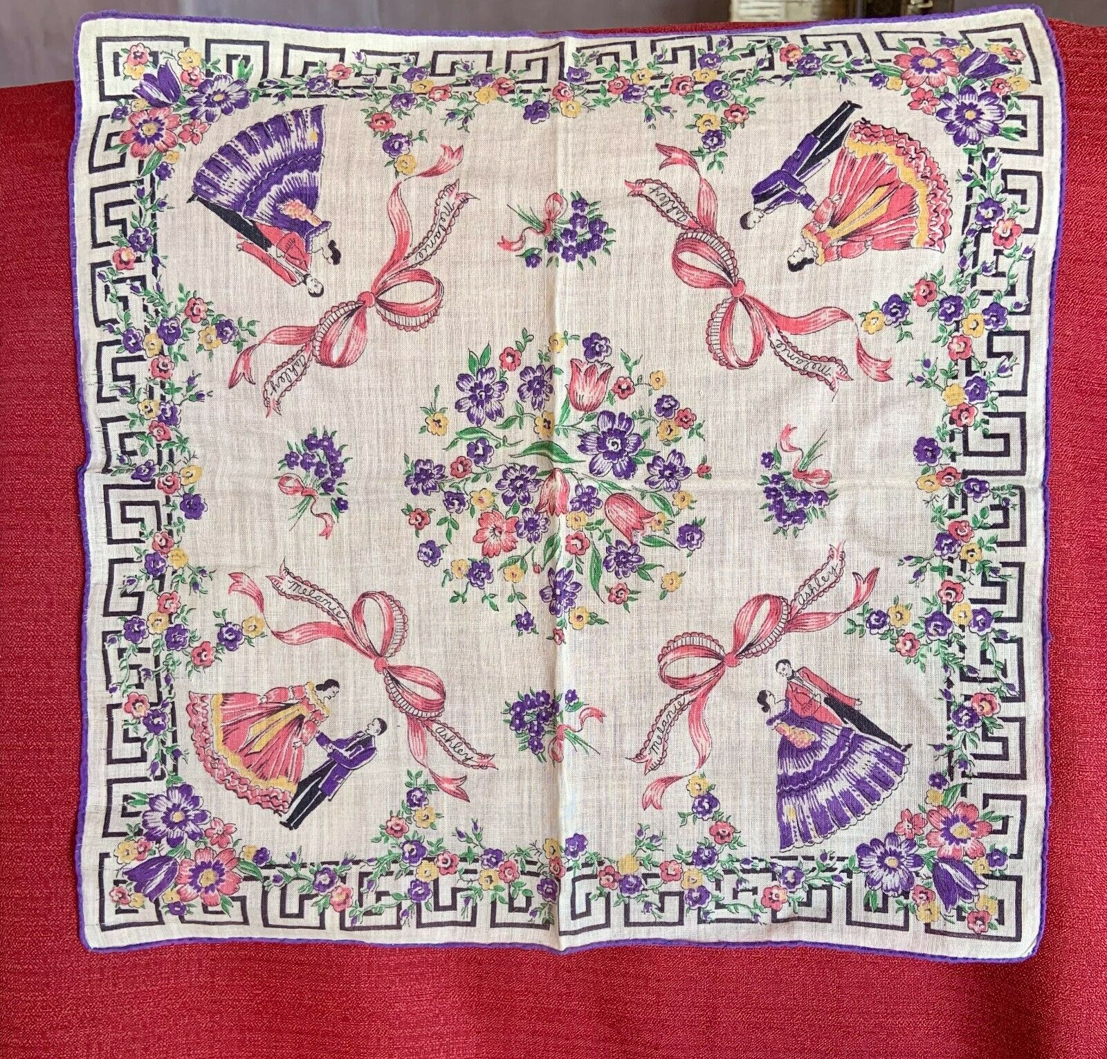 Vintage 1940 gone With The Wind Hankerchief  - $15.00