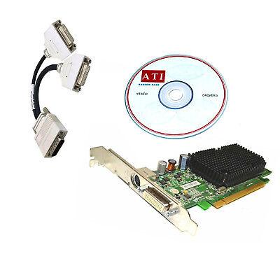 - ATI Radeon x1300 DUAL DVI MONITOR PCI-E x16 Video Card. w/Driver CD. 256MB