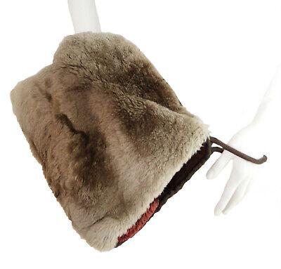 1940s Handbags and Purses History Vintage c.1940's Shearling Muff Hand Warmer Purse $36.50 AT vintagedancer.com