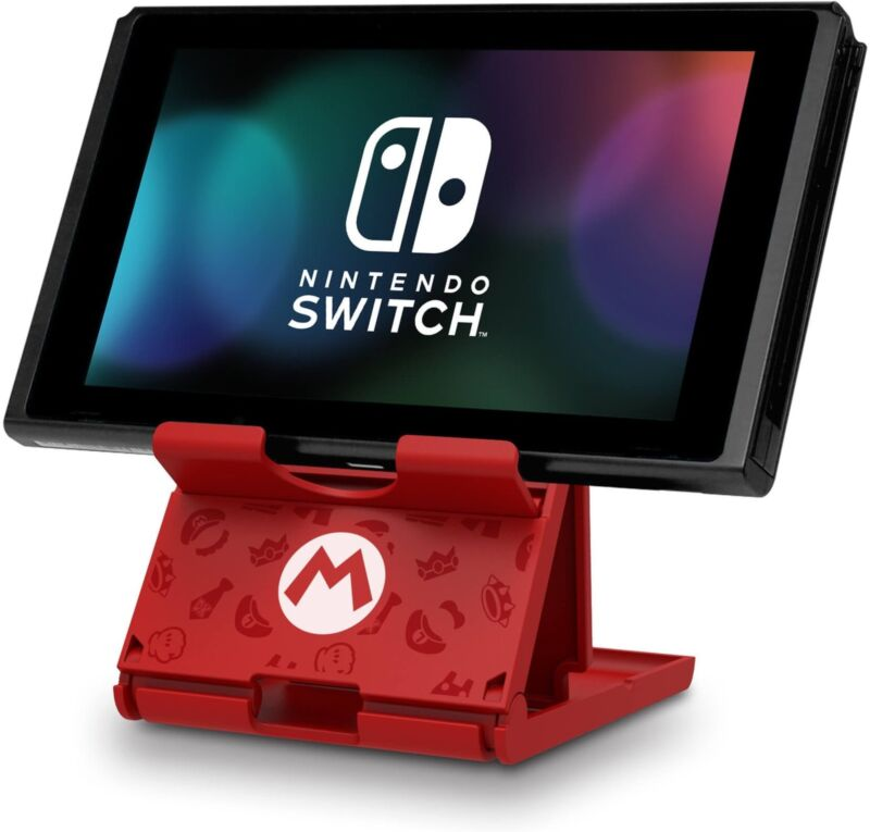 HORI Official Nintendo Switch Compact Playstand Console Stand - Mario Edition