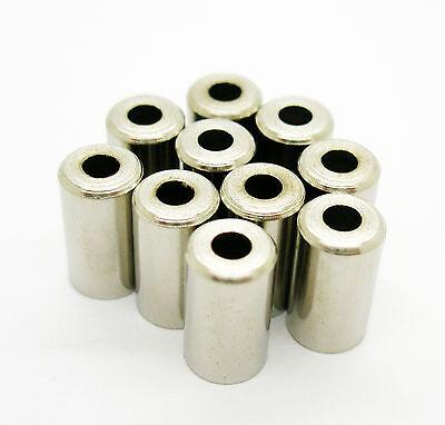 10x Topes para Funda de 6 mm para Cable Transmision Bicicleta Laton...