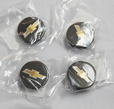 Genuine Wheel Center Caps 4P Black For GM Chevrolet TRAX 2013 2015