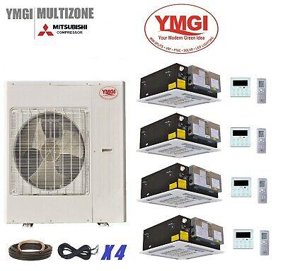 YMGI 48000 BTU 21 SEER Quad Zone Ductless Mini Split Air Con