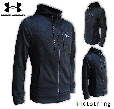 New Mens Under Armour Hoodie Tracksuit Top Hoody Sweatshirt Zip Jacket M-XL