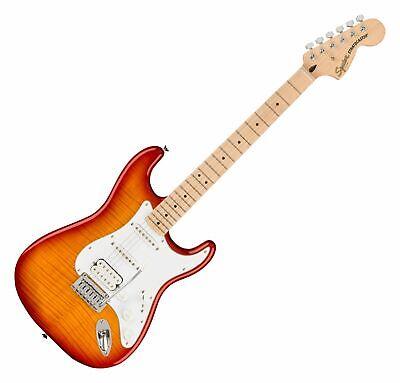 Fender Squier Affinity Strat FMT HSS MN SSB E-Gitarre HSS mit Flame...