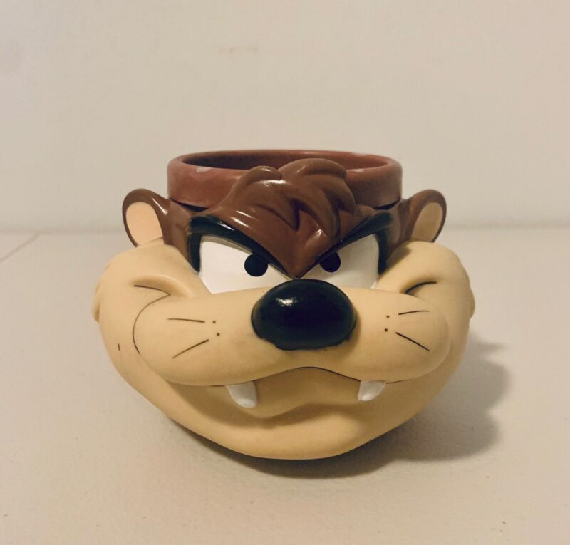 Vintage Tasmanian Devil1992 Looney Tunes Warner Brother Plastic Mug Cup
