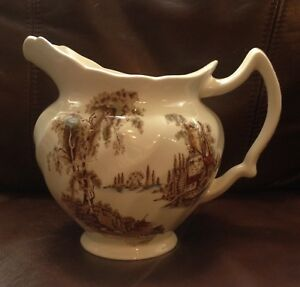 """Vintage Johnson Bros. Pitcher """"The Old Mill"""" England"""