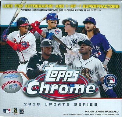 2020 Topps Chrome Update Series Baseball Factory Sealed Mega Box
