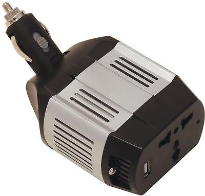 75W 12V cig Socket - 240V Mains car Travel Power Inverter Adapter USB charger