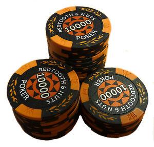 Redtooth & Nuts Poker Chip Roll - 10,000 Value | eBay