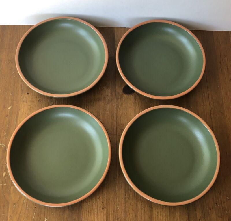 "4 Casa Verde Green Terra Cotta WSP 7.5"" Pasta Tableware Bowls"
