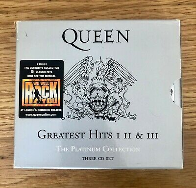 QUEEN : THE PLATINUM COLLECTION - GREATEST HITS 1, 2 + 3