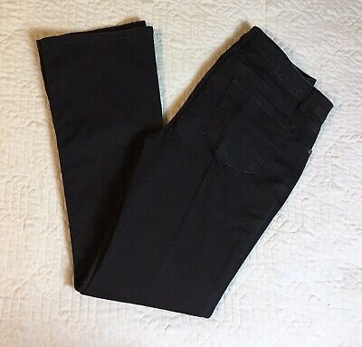 Riders By Lee Black Jeans Women Size 12, 34 Waist Midrise Bootcut Stretch ()