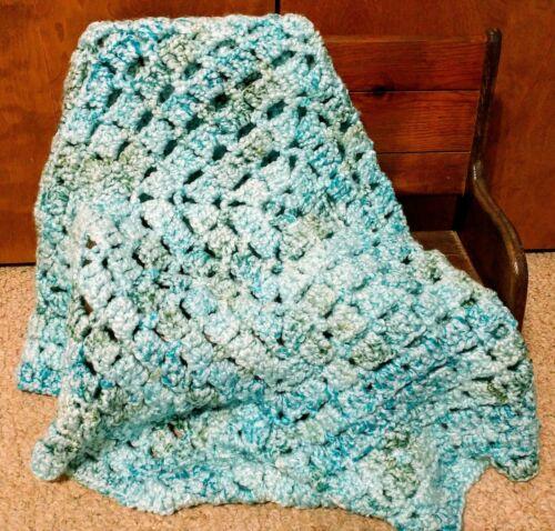 Handmade Crochet Granny Square Baby Blanket - 34 X 34  - $19.95