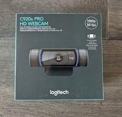 Logitech C920s Pro HD 1080p Webcam w/ Privacy Shutter New Sealed SHIPS SAME DAY