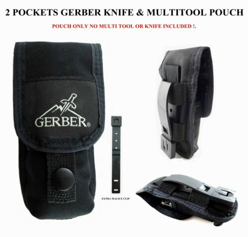 1pc 2 POCKET GERBER POUCH/SHEATH FOR MP800 MP600 06 AUTO MUTILTOOL,KNIFE, KNIVES