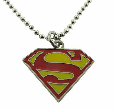 Superman Necklace Pendant Dog tag DC Comic Usa American Superhero Logo Original