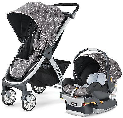 Chicco Bravo Trio 3-in-1 Baby Travel System Stroller w/ KeyFit 30 Lilla NEW comprar usado  Enviando para Brazil